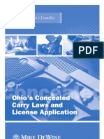Ohio 2011 Concealed Carry Laws Booklet