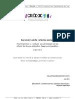 CREDOC - Baromètre de la cohésion sociale