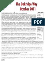 Oct 2011 Newsletter