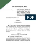 Projeto de Lei 594/2011 que dispõe sobre uso de royalties para educação
