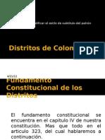 Distritos de Colombia