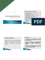 Psicología Educacional Concepto y Rol