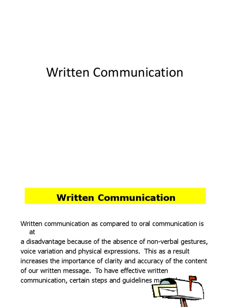 the importance of written communication