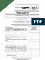 STPM Chemistry 2002 - Paper 2