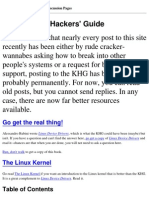 Linux Kernel Hackers' Guide