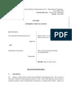 SeaWorld vs Marineland of Cananda Ikaika Custody Court Decision