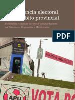 Competencia electoral en el ámbito provincial