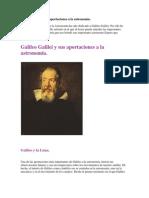Galileo Galilei y Sus Aportaciones