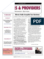 Payers & Providers Midwest Edition – Issue of October 4, 2011