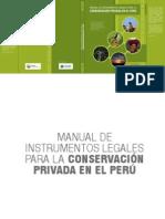 Manual de Instrumentos Legales Areas Conservacion