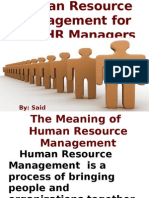 Human Resource Management for Non- HR Managers (Power Point)