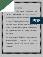 reseña hitorica del centro educativo Patio Bonito
