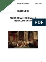 Bloque II Filosofia Medieval
