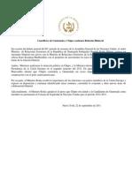 Cancilleres de Guatemala y Chipre sostienen Relación Bilateral