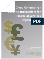 Cloud Computing for Financial Services Organisatios - Benefits and Barriers for Adoption Whitepaper