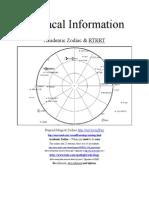 Zodiacal Information
