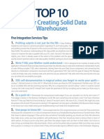 Top 10 Tips for Creating Solid Data Warehouses