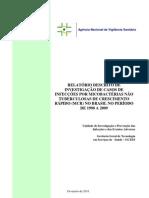 INVESTIGAÇÃO DE SURTO - RELATÓRIO DE INVESTIGAÇÃO DE CASOS DE INFECÇÃO POR MCR 1998 A 2009
