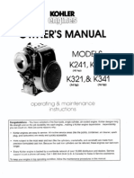 Kohler K Series Owners Manual