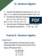 Tutorial 6-Boolean Algebra