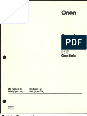 Onan BF BFA BGA NH Service Manual