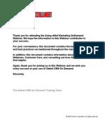 Key Take-Away Email Marketing R11