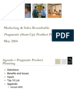 Pragmatic (Start Up) Product Planning