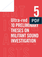 Ultra-Red - 10 Preliminary Theses on Militant Sound Investigation