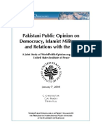 Pakistan Public Opinion