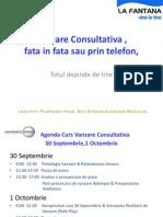 Vanzare Consultativa Sisteme de Purificare Apa, La Fantana Sept Em Brie 2011