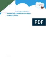 Architecting Database.com Apps, A Design Primer