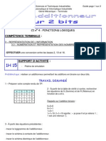 TP Additionneur 2 Bits