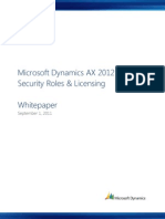 MSDAX2012 Security Roles Licensing Whitepaper Sep 2011 Customer Ready