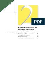 Human Behavior and Interior Environment