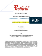 Westfield RFQ for Architectural and Professional Services