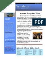 Rotary Newsletter Sep 20 2011