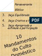 10 Mandamentos Do Culto Doméstico