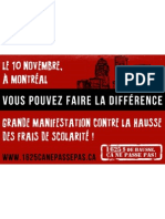 Autocollant Manifestation nationale 10 novembre