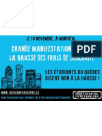 Affiche 3 Manifestation nationale 10 novembre