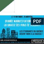 Affiche 3 Manifestation nationale 10 novembre