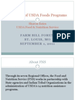 Farm Bill Forum - USDA Foods