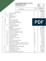 Proyecto Presupuesto Educación Superior 2012
