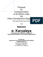 Urban Dev Min Karnataka Proposal