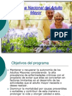 Programa Nacional Del Adulto Mayor