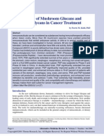 The Use of Mushroom Glucans and Proteoglycans in Cancer Treatment