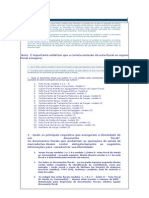 Documentos Fiscais ICMS