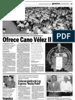 Ofrece Cano Vélez Segundo Informe