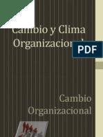 Clima y Cambio Organizacional