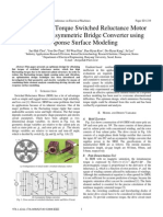 Design of Flat Torque Switched Reluctance Motor Considering Asymmetric Bridge Converter Using Response Surface Modeling