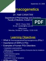 Lecture 7 - PGx - 23 Sep 2006